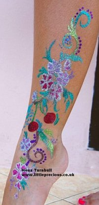 glitter tattoo freehand mona turnbull, little precious oxford